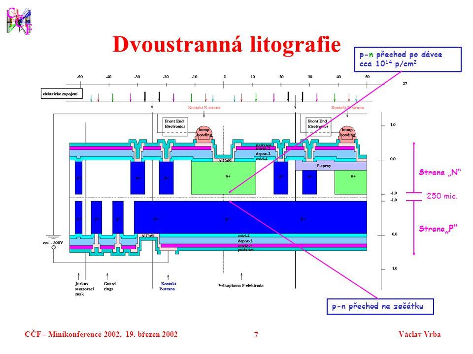 CČF – Minikonference 2002, 19. březen 2002Václav Vrba 7 Dvoustranná litografie 250 mic.