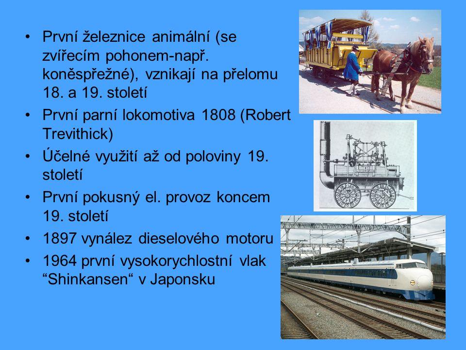První železnice animální (se zvířecím pohonem-např.