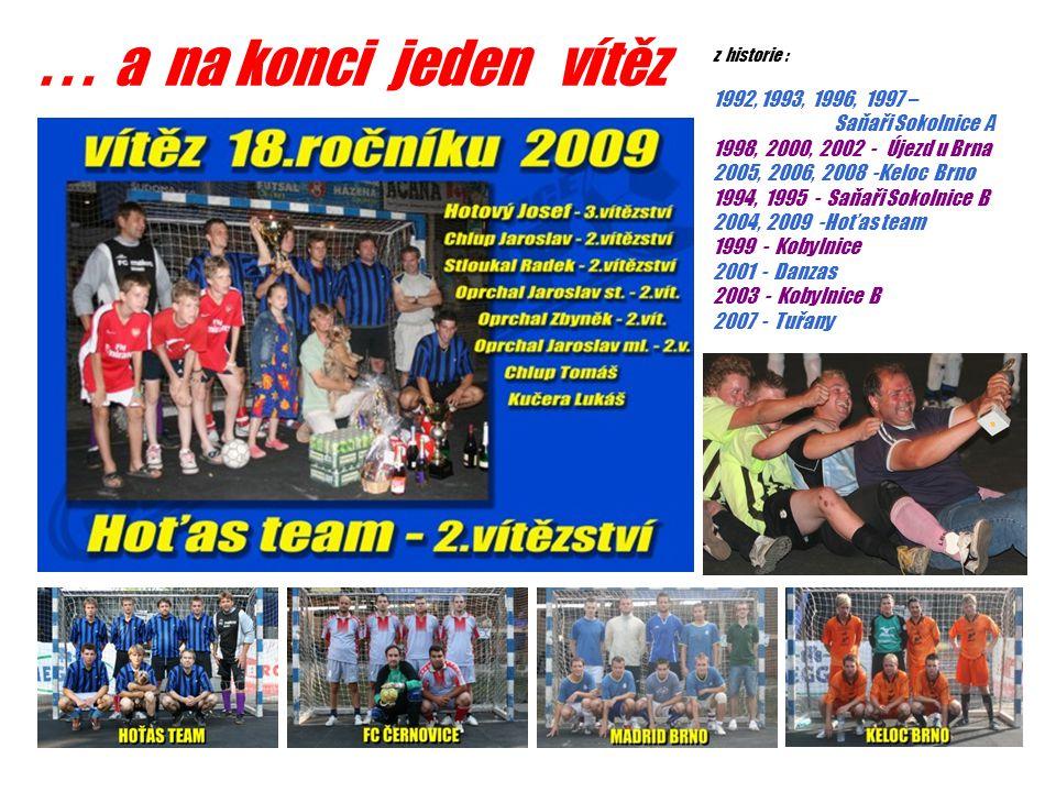 ... a na konci jeden vítěz z historie : 1992, 1993, 1996, 1997 – Saňaři Sokolnice A 1998, 2000, 2002 - Újezd u Brna 2005, 2006, 2008 -Keloc Brno 1994,