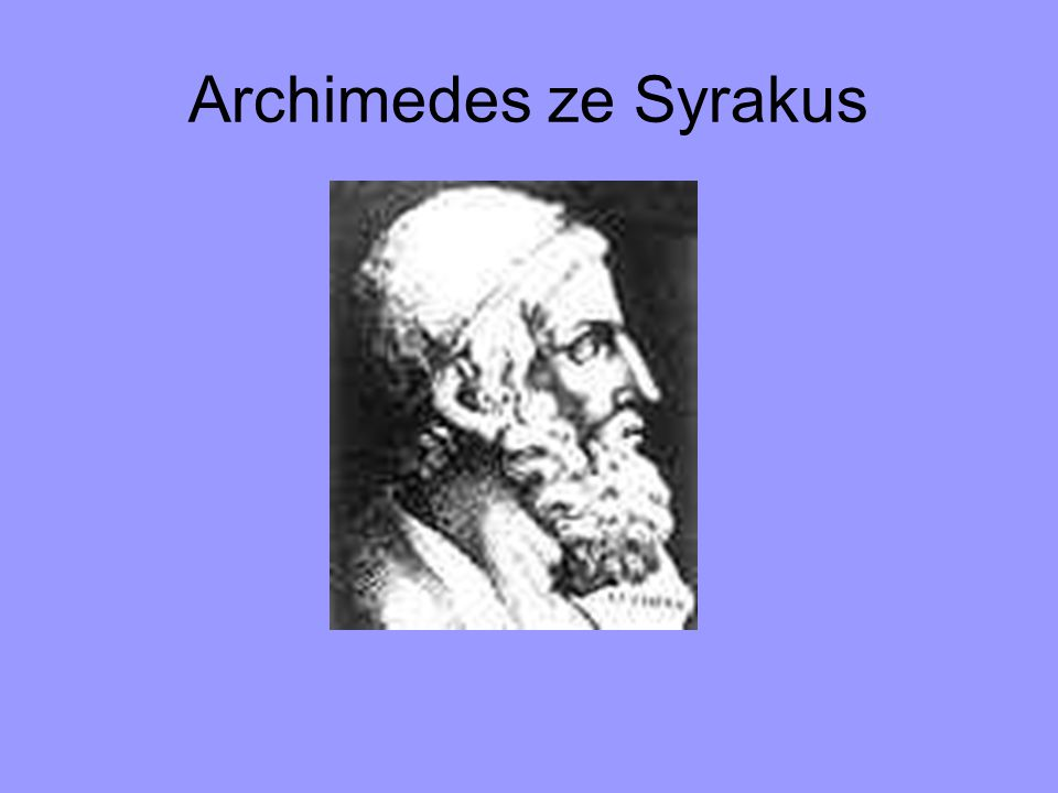 Archimedes ze Syrakus