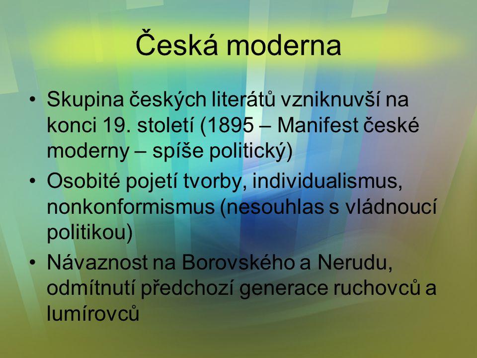 Skupina českých literátů vzniknuvší na konci 19.
