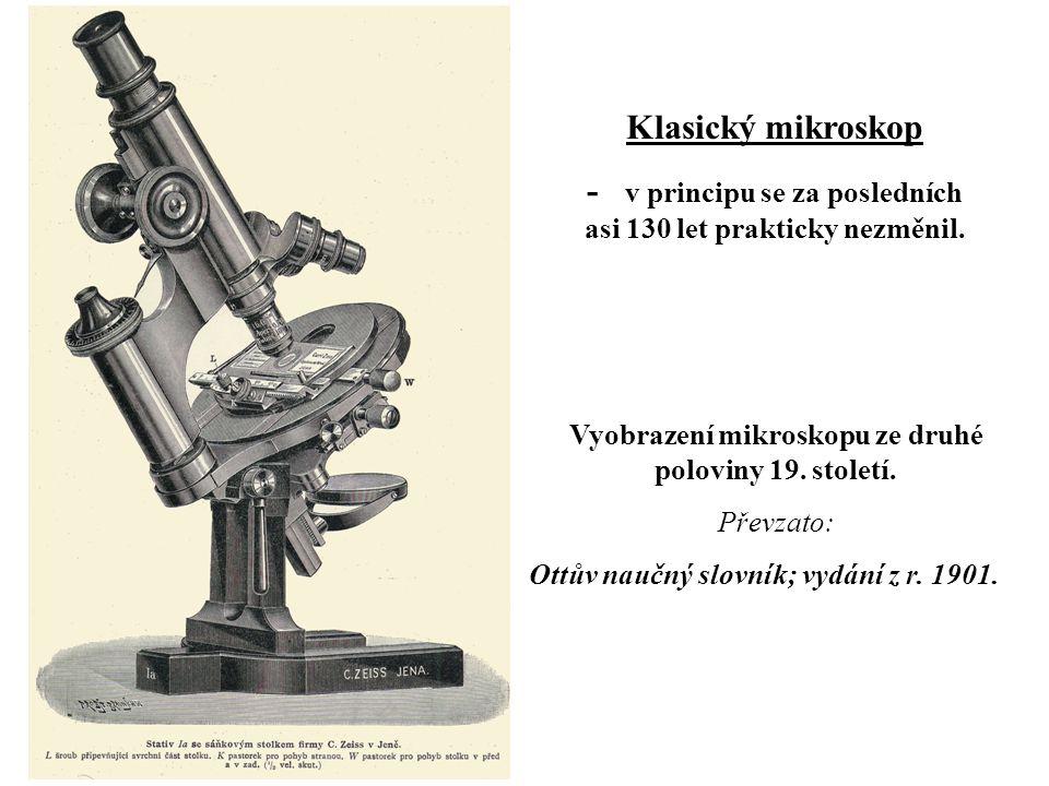 Vyobrazení mikroskopu ze druhé poloviny 19.století.