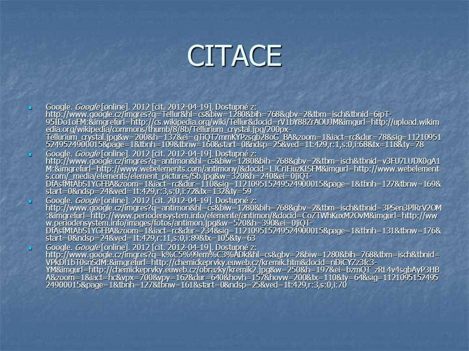 CITACE Google. Google [online]. 2012 [cit. 2012-04-19].