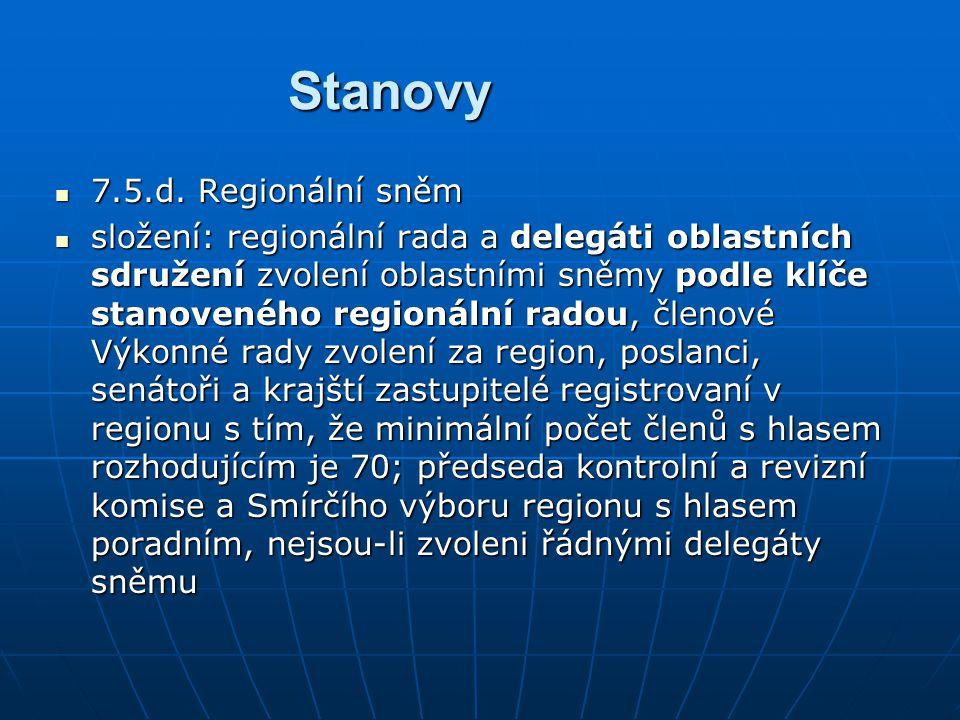 Stanovy 7.5.d. Regionální sněm 7.5.d.