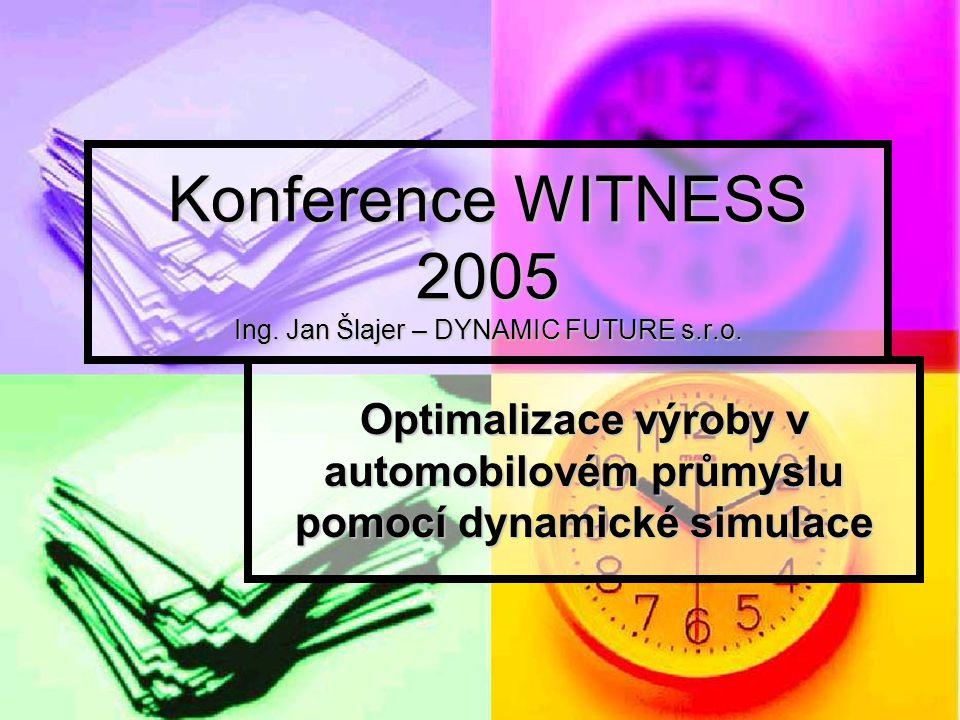 Konference WITNESS 2005 Ing.Jan Šlajer – DYNAMIC FUTURE s.r.o.