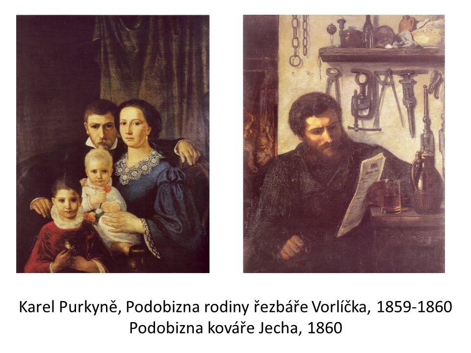 Karel Purkyně, Podobizna rodiny řezbáře Vorlíčka, 1859-1860 Podobizna kováře Jecha, 1860