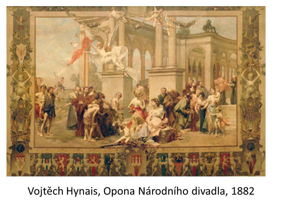Vojtěch Hynais, Opona Národního divadla, 1882