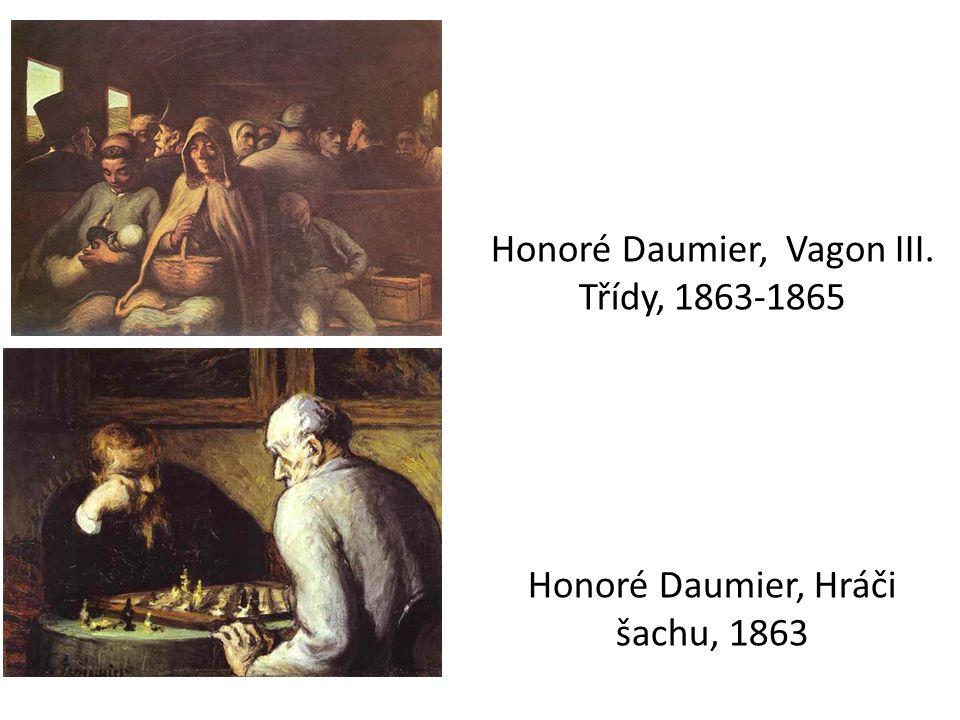 Honoré Daumier, Vagon III. Třídy, 1863-1865 Honoré Daumier, Hráči šachu, 1863