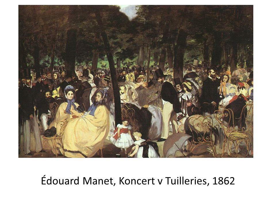Édouard Manet, Koncert v Tuilleries, 1862