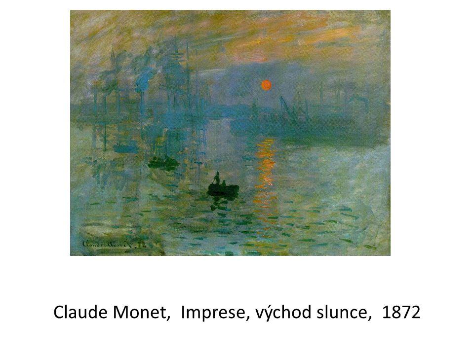 Claude Monet, Imprese, východ slunce, 1872