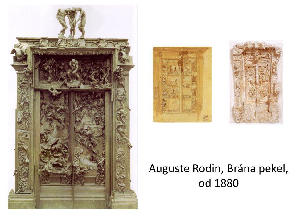 Auguste Rodin, Brána pekel, od 1880