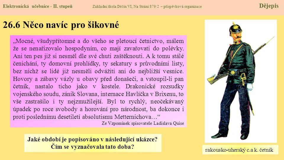 26.7 CLIL (Franz Joseph I.) Elektronická učebnice - II.
