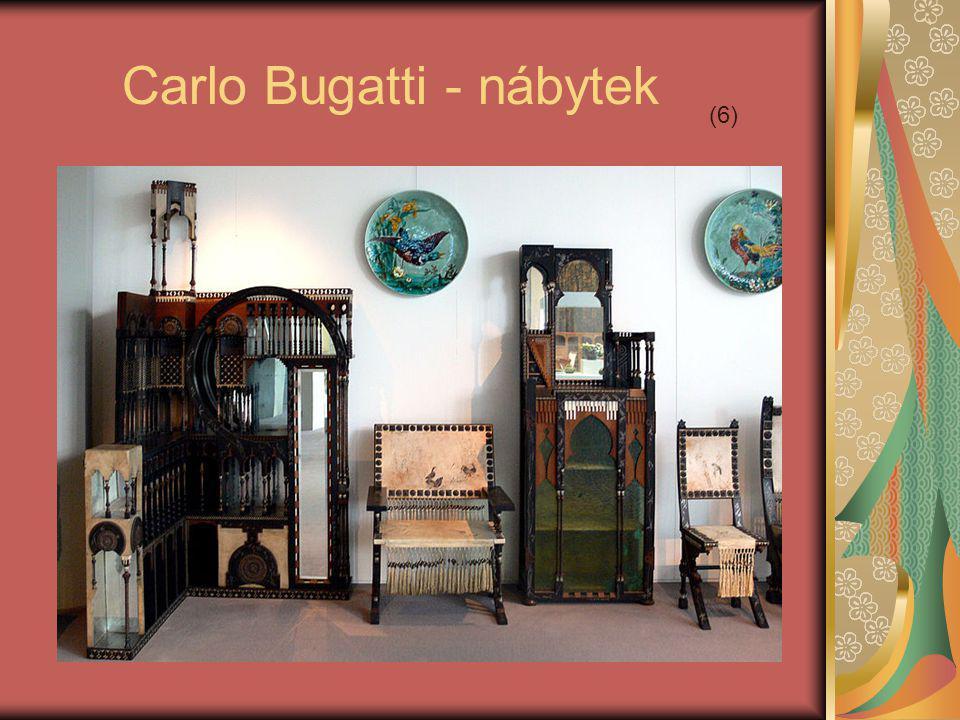 Carlo Bugatti - nábytek (6)