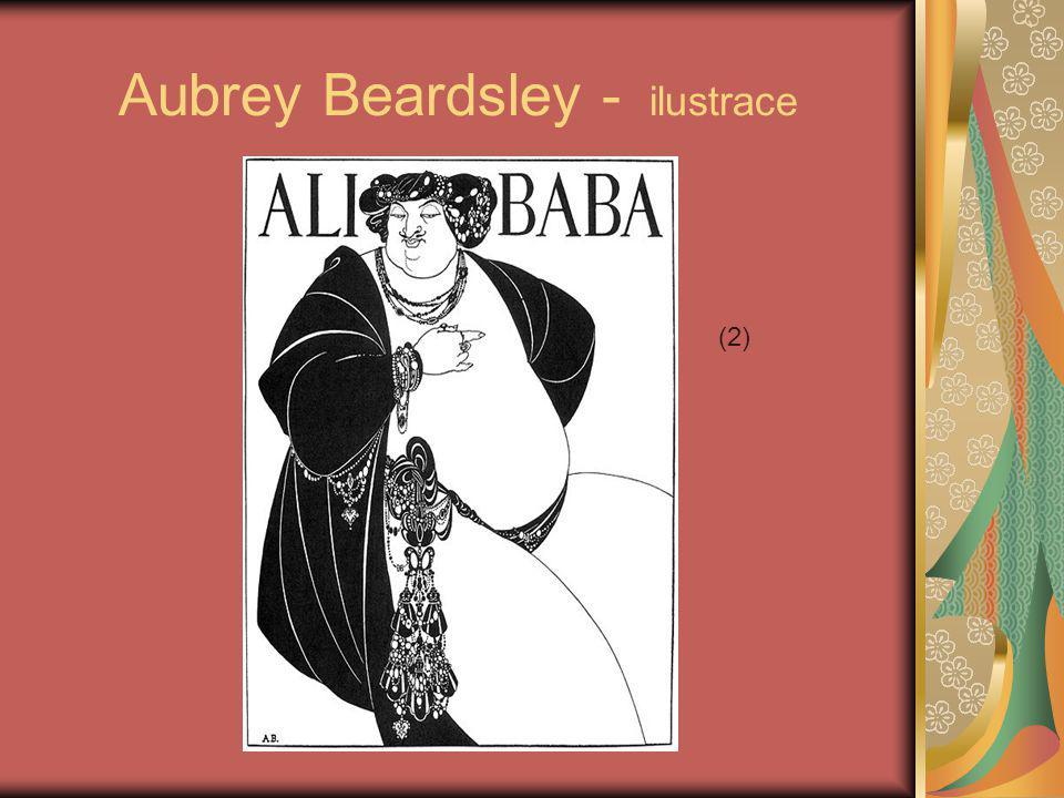 Aubrey Beardsley – Paví šat (ilustrace) (3)
