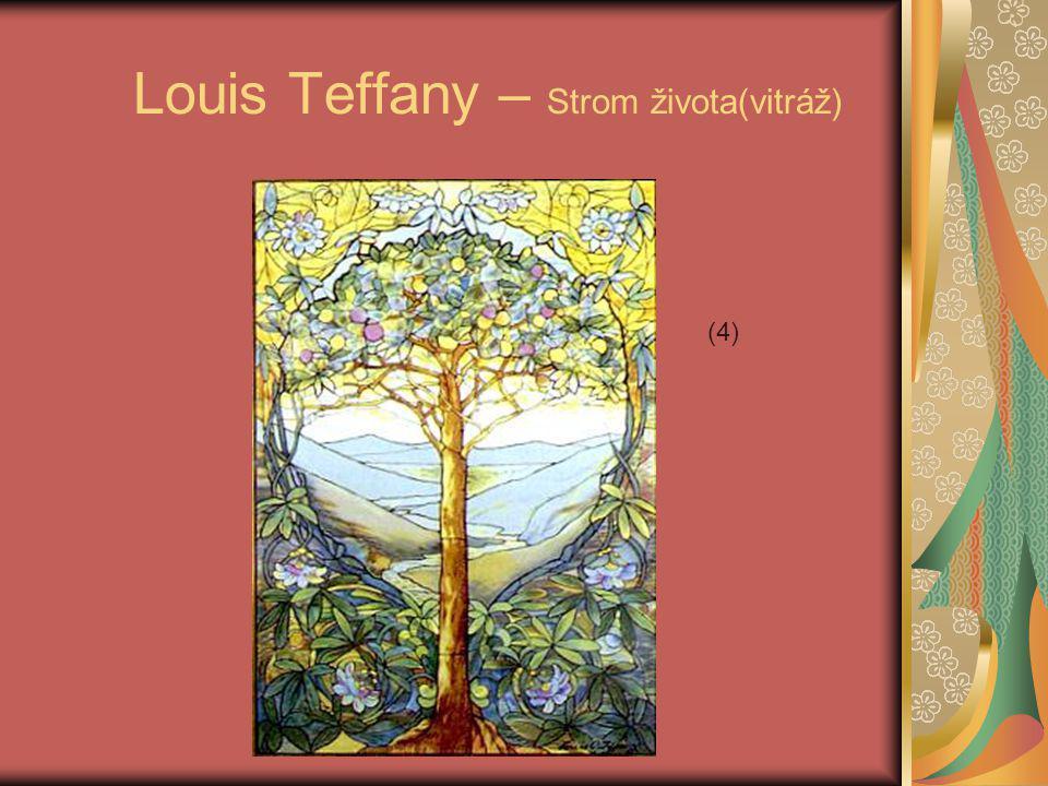 Louis Teffany – Strom života(vitráž) (4)