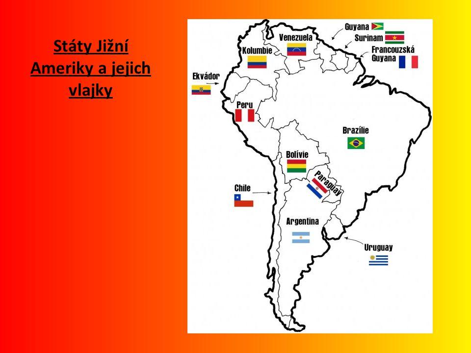 Státy Jižní Ameriky a jejich vlajky
