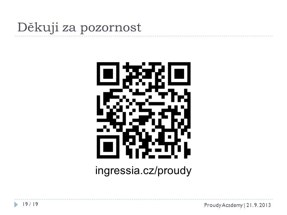 Děkuji za pozornost ingressia.cz/proudy Proudy Academy | 21. 9. 2013 19 / 19