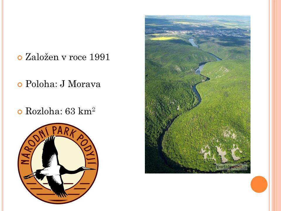 Založen v roce 1991 Poloha: J Morava Rozloha: 63 km 2