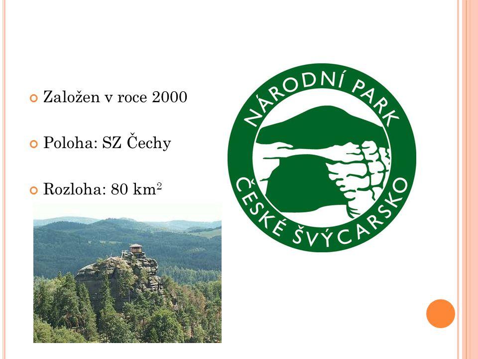 Založen v roce 2000 Poloha: SZ Čechy Rozloha: 80 km 2