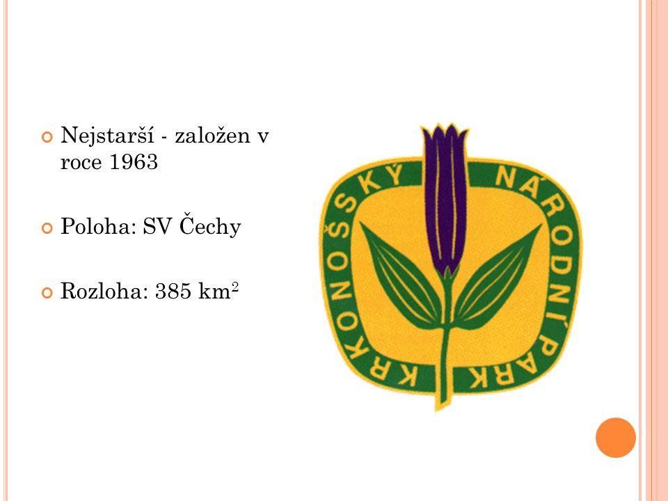 Nejstarší - založen v roce 1963 Poloha: SV Čechy Rozloha: 385 km 2