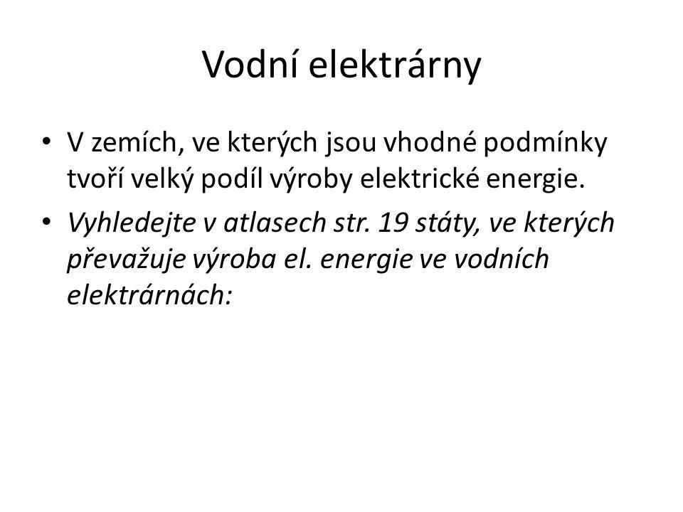 Otázky k opakování Které druhy elektráren jsou škodlivé životnímu prostředí, dá se to nějak řešit.