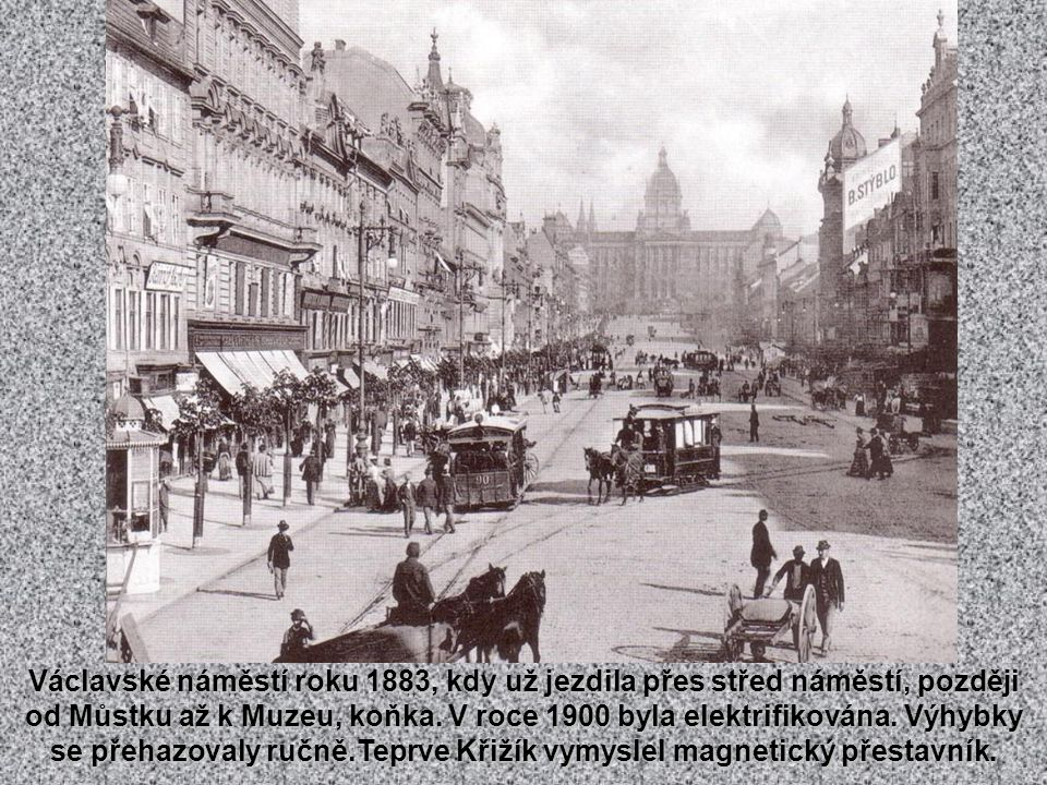 Karlovo náměstí z konce 50. let 19. století, kdy před chrámem sv.