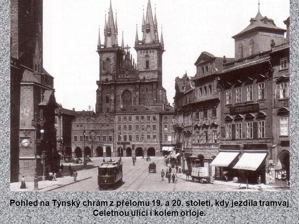 Staroměstské náměstí s Krennovým domem zbouraným r.
