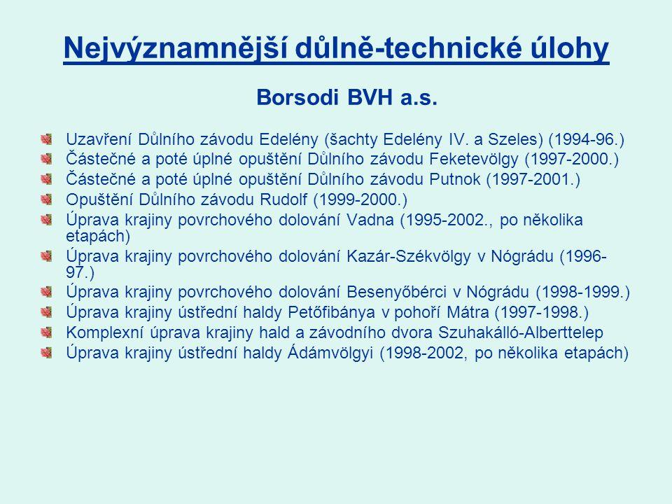 Uzavření Důlního závodu Edelény (šachty Edelény IV.
