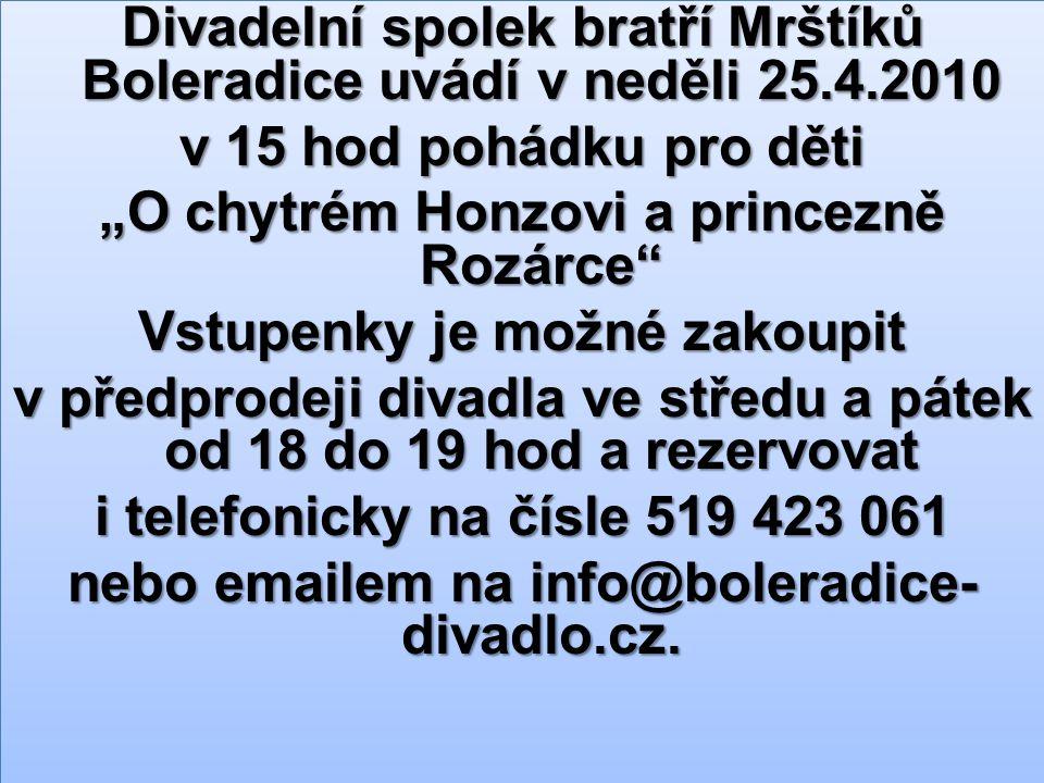 Jihomoravský kraj a městys Boleradice.