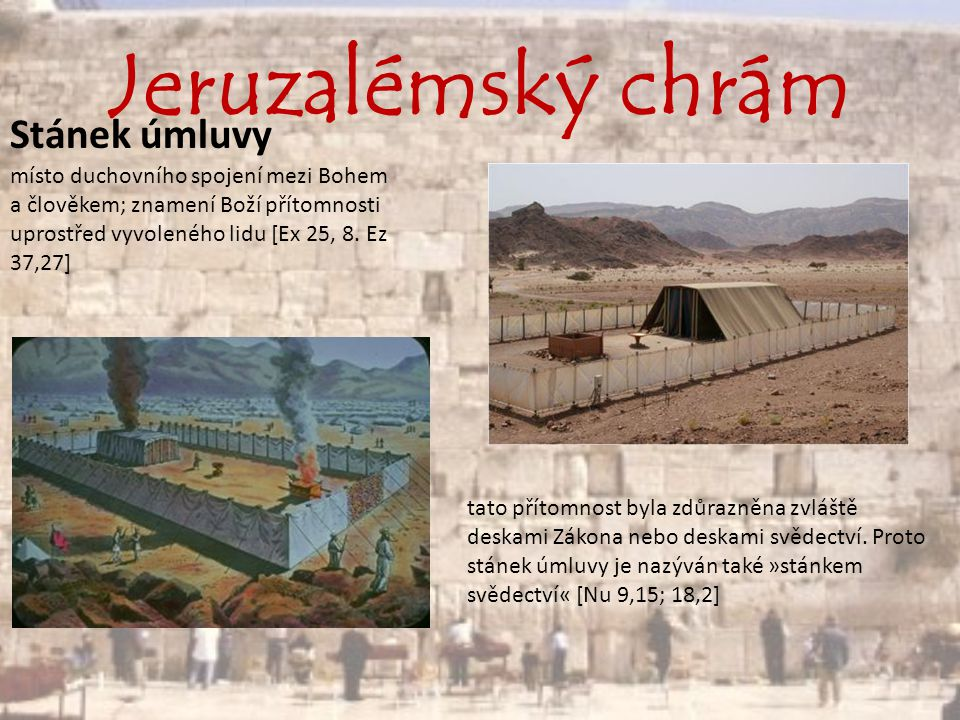 Jeruzalémský chrám Po nastěhování do Palestiny měli Izraelci jen svatyně.