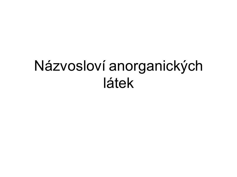 Názvosloví anorganických látek