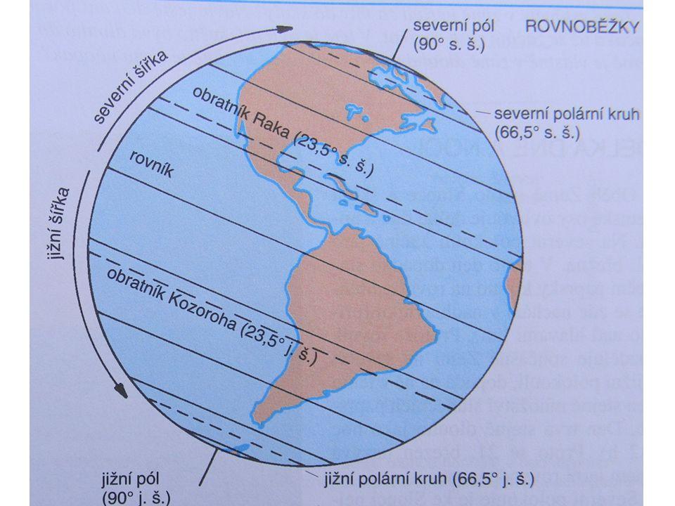 Zápis Glóbus a zeměpisná síť Glóbus je zmenšený model Země (zmenšení je vyjádřeno měřítkem) POLEDNÍKY ROVNOBĚŽKY