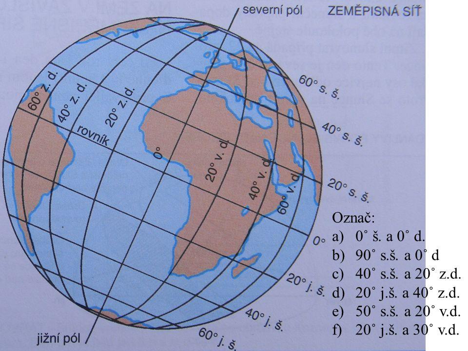 1.Myšlený bod na zeměkouli (90° s.+ j.š.), ve kterém se protínají všechny poledníky.