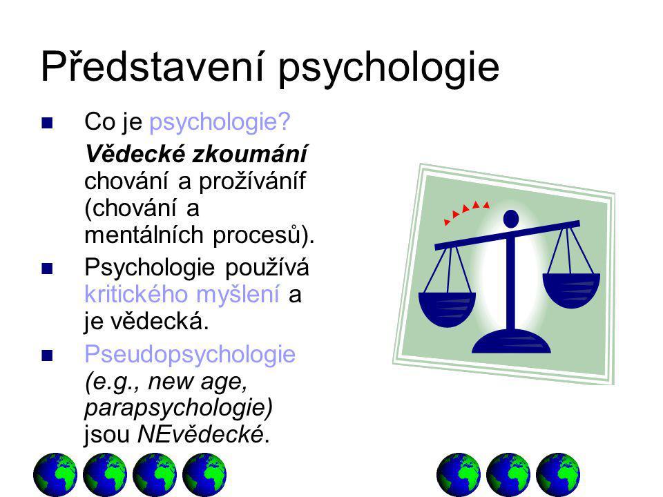 Představení psychologie Co je psychologie.