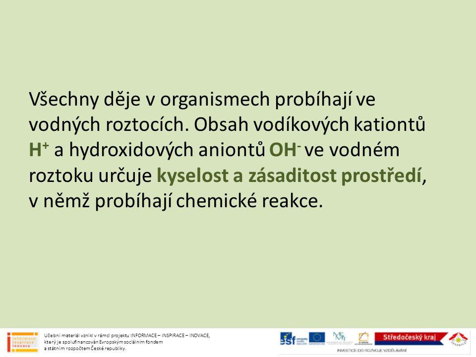 Ve vodě: NaOH → Na + + OH - Anionty OH - způsobují zásaditost vodného roztoku.