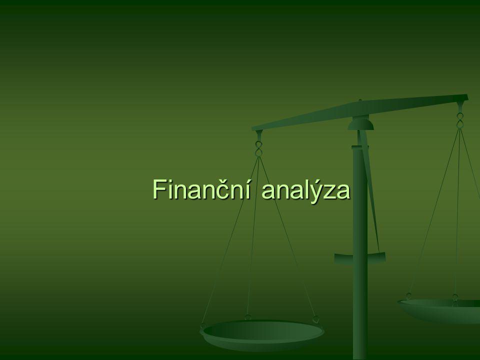 = analýza finančního stavu podniku neboli jeho finančního zdraví.