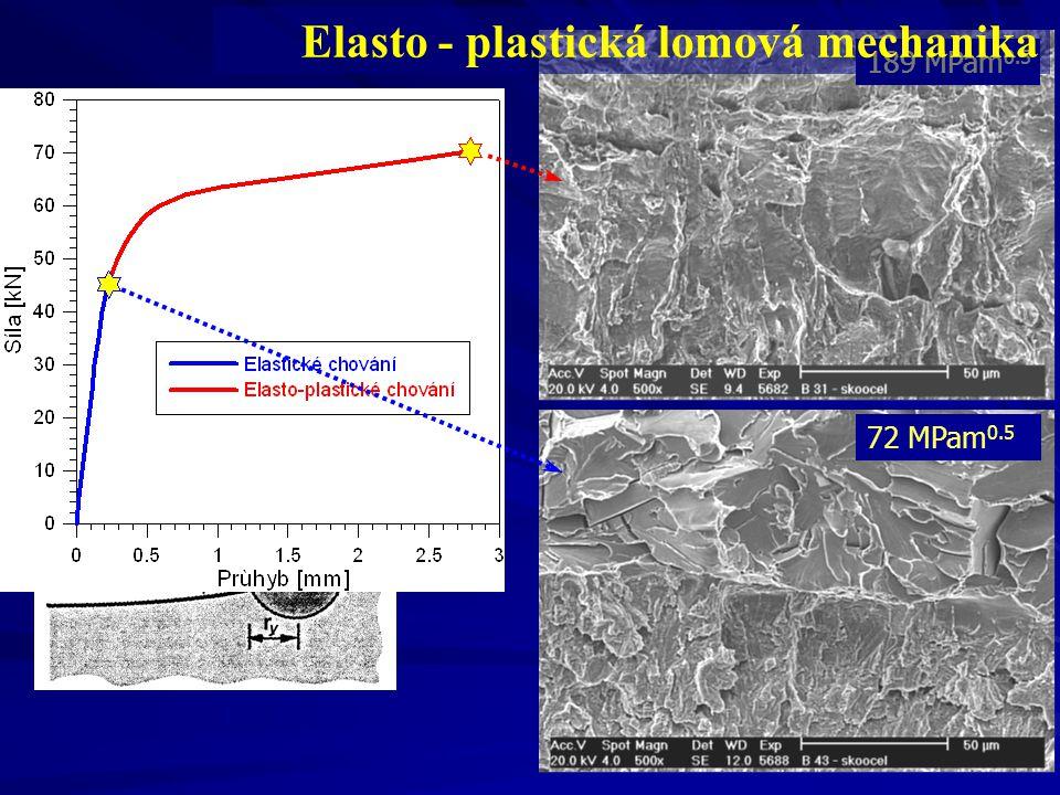 8 72 MPam 0.5 189 MPam 0.5 Elasto - plastická lomová mechanika