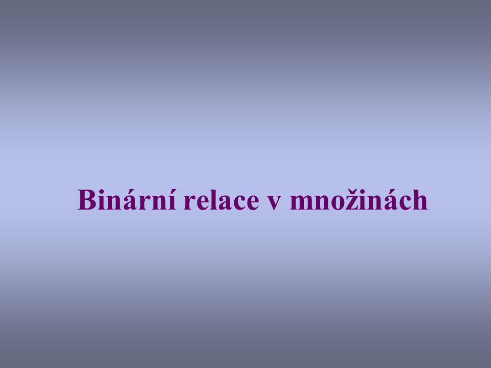 Binární relace v množinách