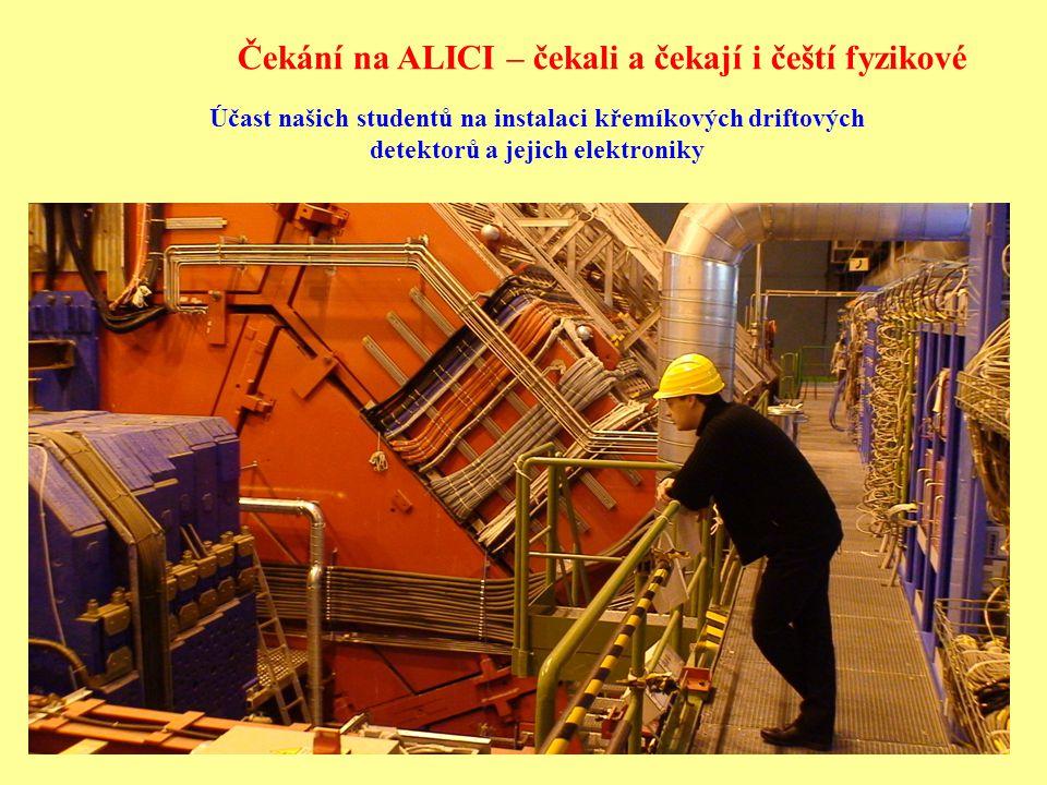 Účast našich studentů na instalaci křemíkových driftových detektorů a jejich elektroniky Čekání na ALICI – čekali a čekají i čeští fyzikové