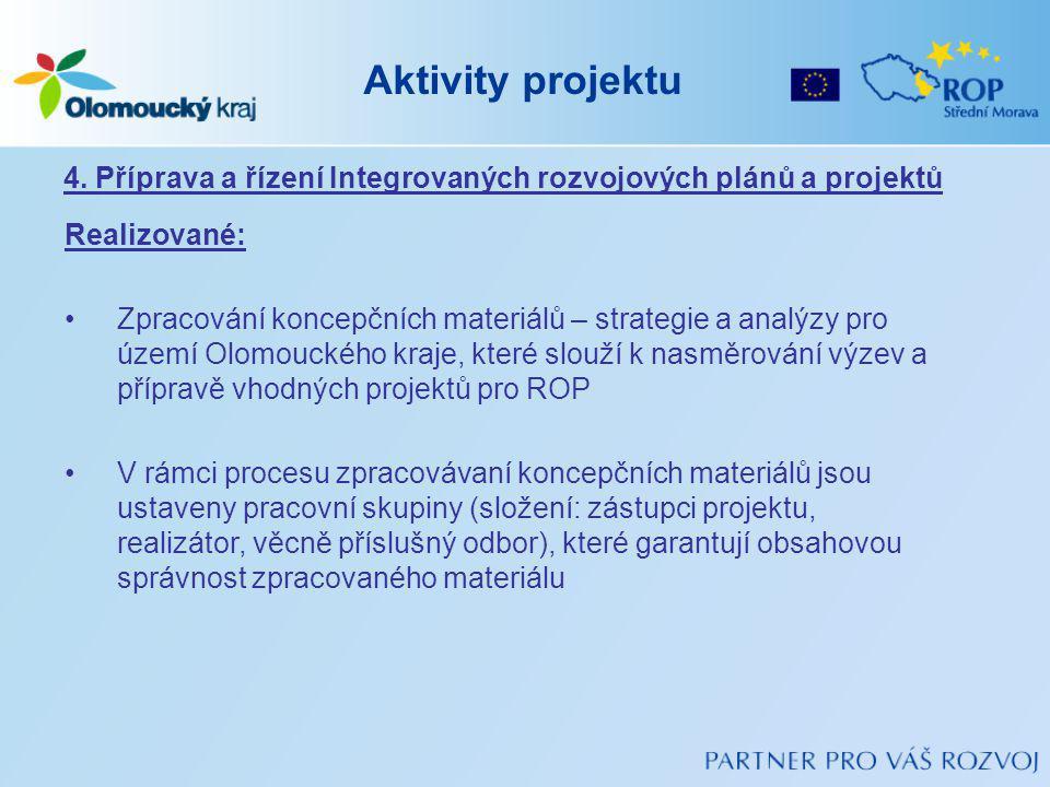 Aktivity projektu 4.