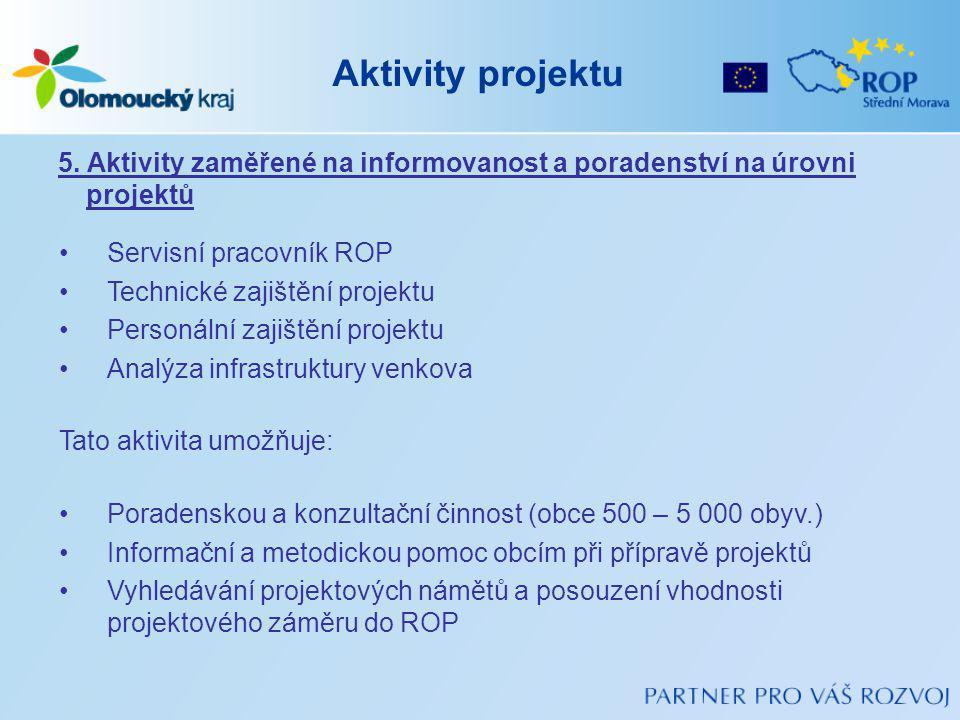 Aktivity projektu 5.
