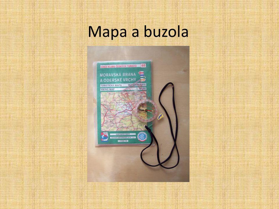 Součástí každé mapy je legenda obsahující vysvětlení použitých značek