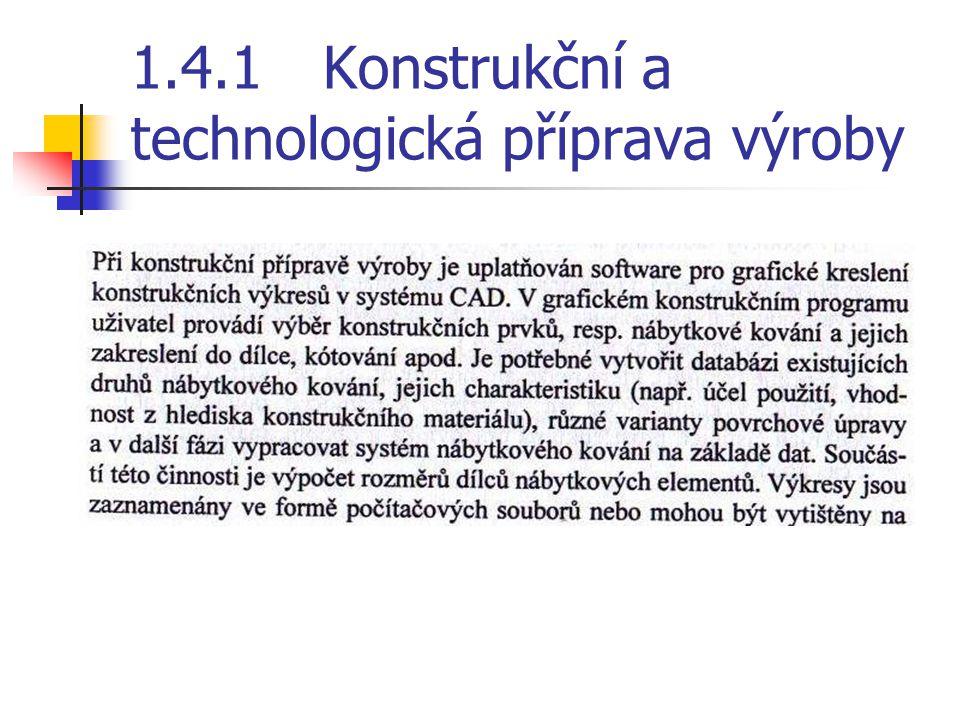 Technické prostředky a metody technické přípravy výroby