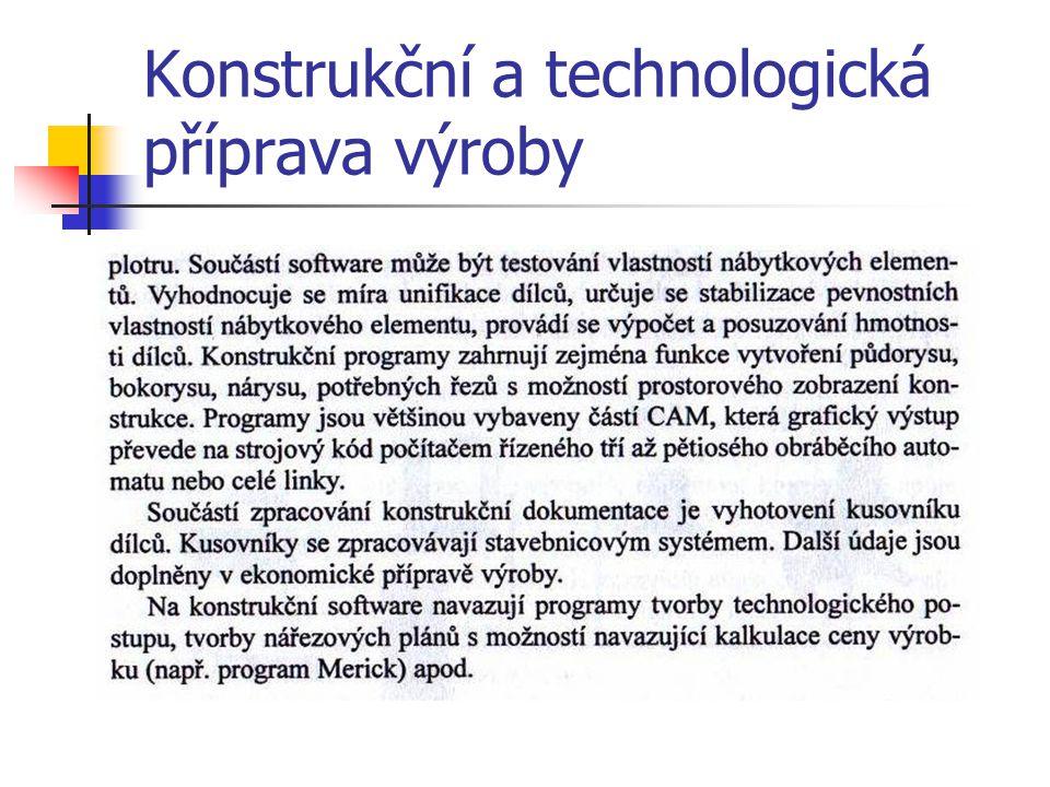 1.4.1Konstrukční a technologická příprava výroby
