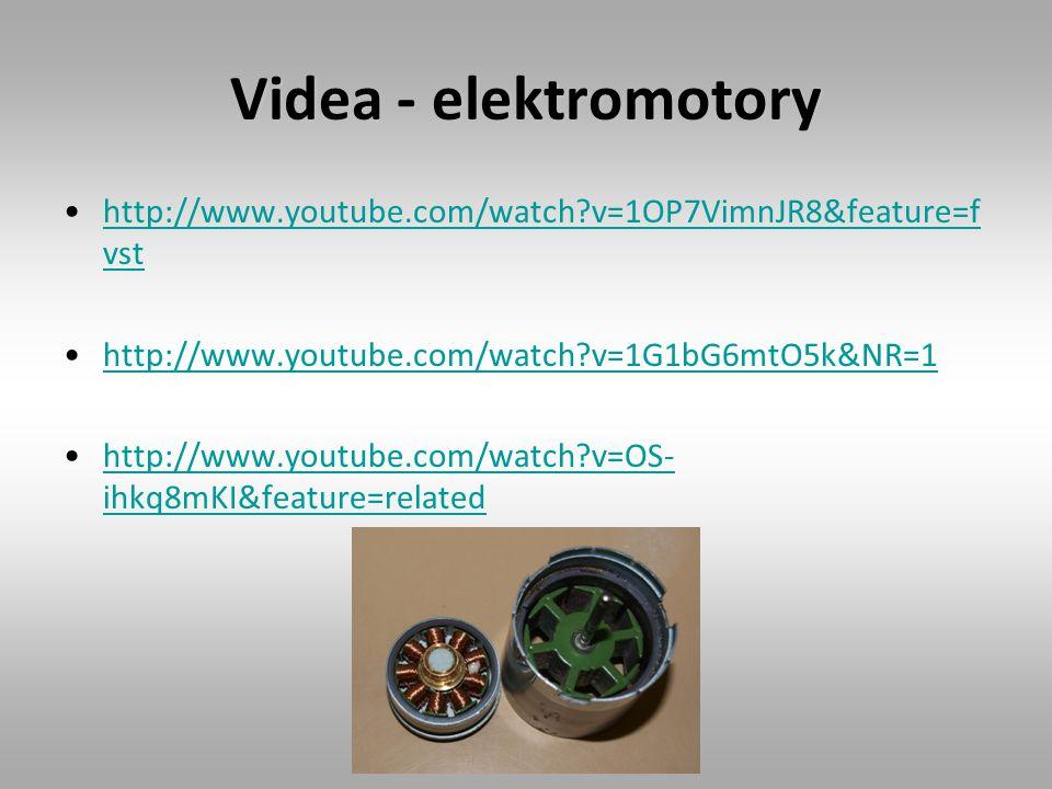 Videa - elektromotory http://www.youtube.com/watch?v=1OP7VimnJR8&feature=f vsthttp://www.youtube.com/watch?v=1OP7VimnJR8&feature=f vst http://www.youtube.com/watch?v=1G1bG6mtO5k&NR=1 http://www.youtube.com/watch?v=OS- ihkq8mKI&feature=relatedhttp://www.youtube.com/watch?v=OS- ihkq8mKI&feature=related