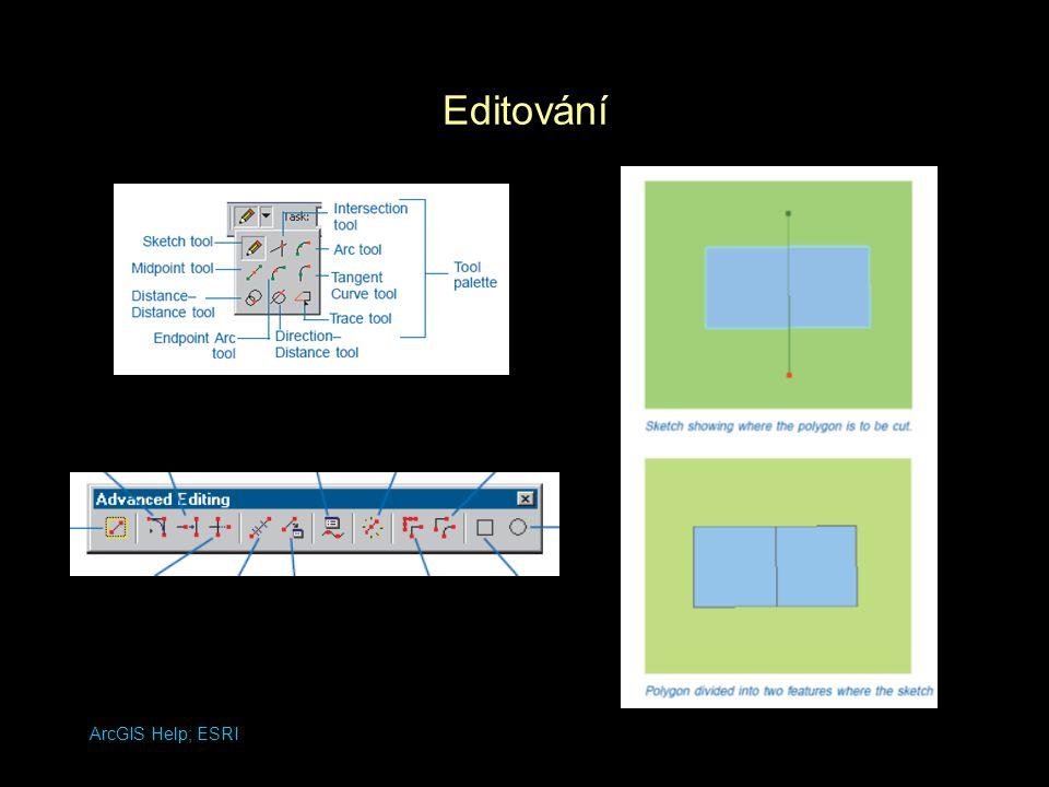 ArcGIS Help. ESRI Spojování a členění prostorových reprezentací Dissolve