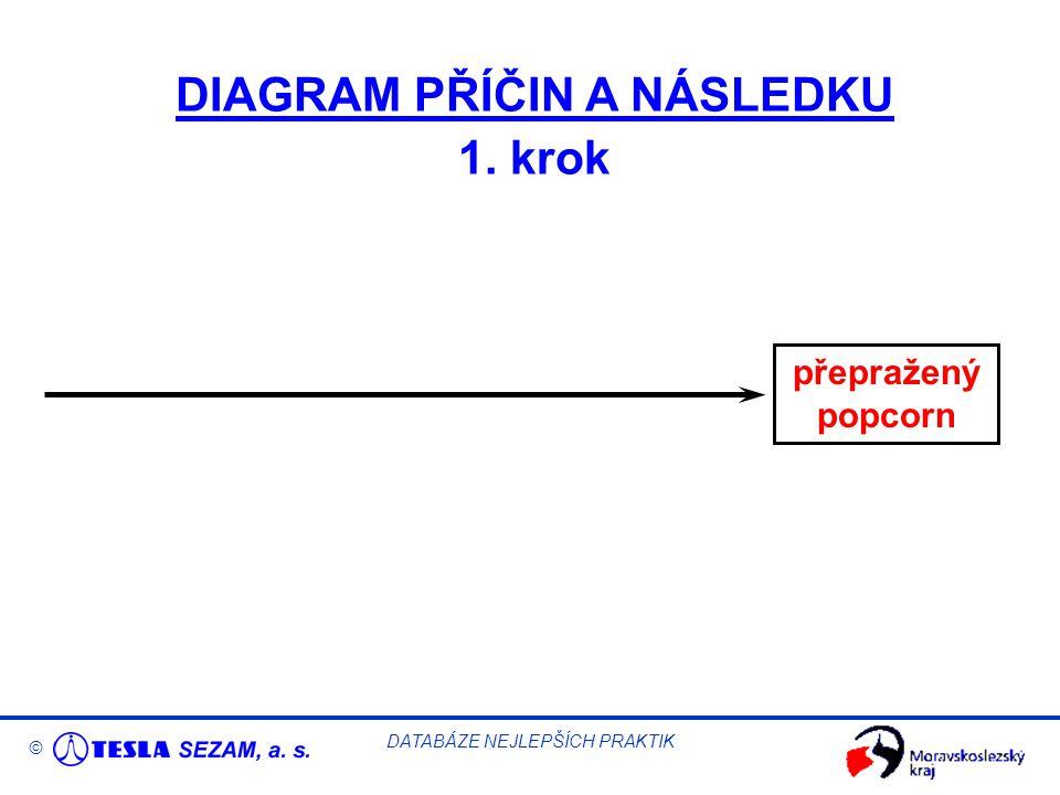 © DATABÁZE NEJLEPŠÍCH PRAKTIK DIAGRAM PŘÍČIN A NÁSLEDKU 1. krok přepražený popcorn