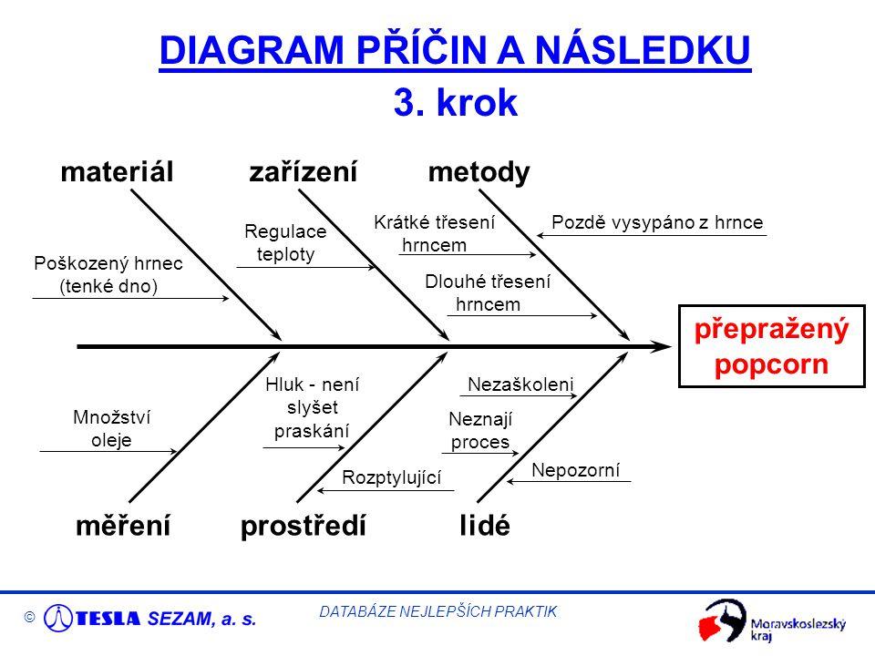 © DATABÁZE NEJLEPŠÍCH PRAKTIK DIAGRAM PŘÍČIN A NÁSLEDKU 3.