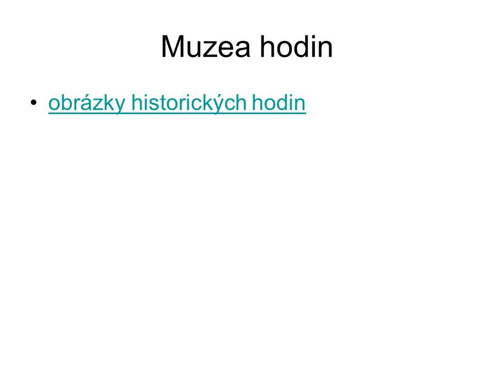 Muzea hodin obrázky historických hodin