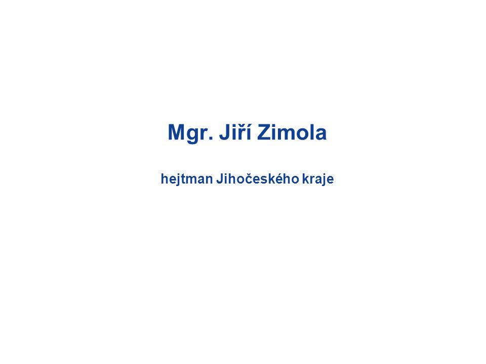 Mgr. Jiří Zimola hejtman Jihočeského kraje